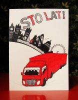 birthday card commission: lorry in London by n-th-green