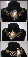 The Golden Lady - Steampunk Necklace by Lai-Tut