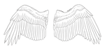 Free Eagle Wings Lineart - Ventral by Aerophoinix