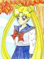 Usagi in Crayon by YuniNaoki