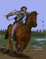 Wolf Horse Archer Colored by Mars-Walker