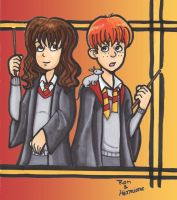 Ron and Hermione by A-A-Fresca