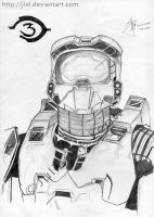 Halo 3 Master Chief by jlel