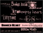 Broken Heart PSP Brushes by Bound-By-Leather