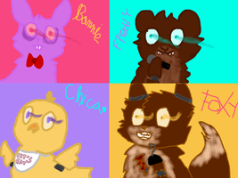 Five nights at Freddy's by XGreen-CatX