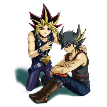 Yugi and Yusei by Ycajal