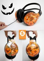 Halloween Headphones by Bobsmade