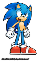 Sonic(archie comic style) by ShayTheHedgehog97