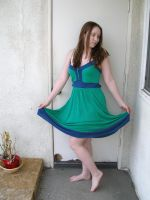 green blue dress 1 by PhoeebStock