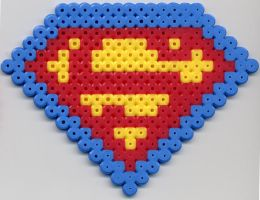 Superman Shield in Perler Bead by Pagz