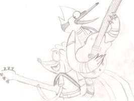 Mordecai and the Rigbys by CannedBread81