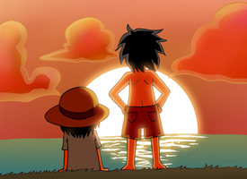 Ace and luffy no regrets by VooDooDollMaster