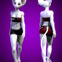 Mousie walkcycle front and back by zorryn