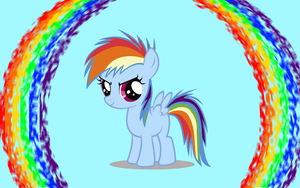 Rainbow Dash Filly Wallpaper by Angall3