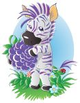 Blackberry zebra vector by jkBunny