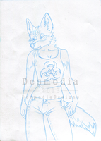 A6 Clean Sketch for Lunakia [gift] by DesmodiaDesigns