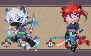 Adopt Auction XIV: Tiger Warriors [ CLOSED ] by NightmareInspections