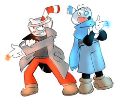 Cuphead and Mugman (the quest for the ink machine)