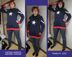 Captain America Hoodie by TriaElf9