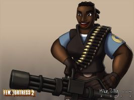 Fem Fortress 2 Heavy by HertzaHaeon