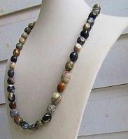 Knotted Silverleaf Jasper Necklace by SadiesAccessories