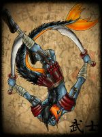 Japanese Warrior by NuclearZombie18