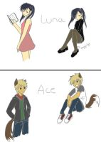 Darkhalo4321 Contest Characters c: by AkamaruAnime