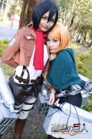 Friendship //Petra Ral and Mikasa by ElliaDinosaur