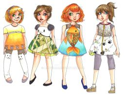Children's Wear - Bright Color and Animal Motif by allychan