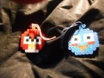 My Angry Birds Ornaments by sydneypie
