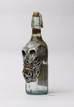 cthulhu bottle by FraterOrion