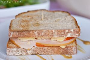 Ham, cheese sandwich by patchow