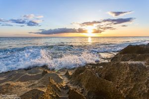 Crashing Waves and beautiful light by Mgbedt420