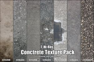Hi-Res Concrete Texture Pack by Lilshadow