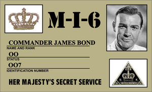 007 James Bond ID Card by CmdrKerner