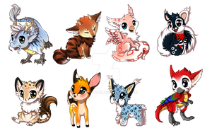 A few more Chibi's by Yechii