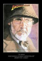 Sketch Card-Indiana Jones 5 by TrevorGrove