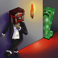 Captainsparklez vs. The Creeper by Jennie-mau5