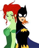 Batgirl and Ivy by randomperson77