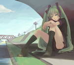 Miku Under The Bridge by kyrakuu