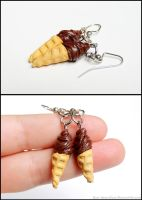 Chocolate Soft Serve Earrings by Bon-AppetEats