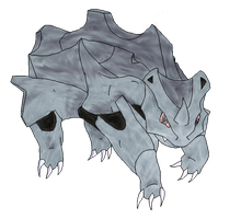 number 111 Rhyhorn by lolcatsarelol