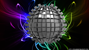 Extreme 3D Abstract Sphere Wallpaper by ryanr08