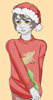 Christmas Karkat Doodle [redraw] by Takoto