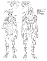 Female + Male Turian Concepts by ghostfire