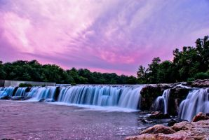 Sunset at the falls by jsif47