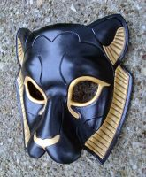 Black Sekmeht Leather Mask by merimask