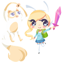 Fionna and Cake by Fafeapplepie