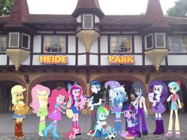 A day at Heide Park with Equestria Girls by Phi1997
