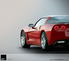Red Chevrolet Corvette by VisionHaus